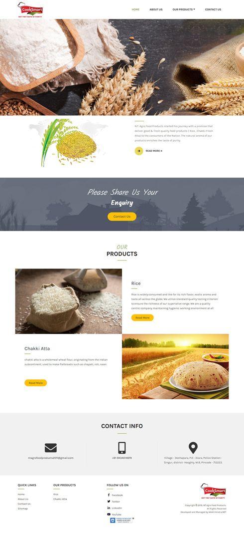 NT Agro Food India Web Design