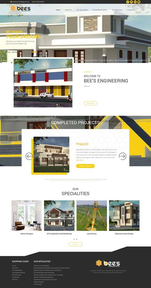 Bees Engineering India Web Design