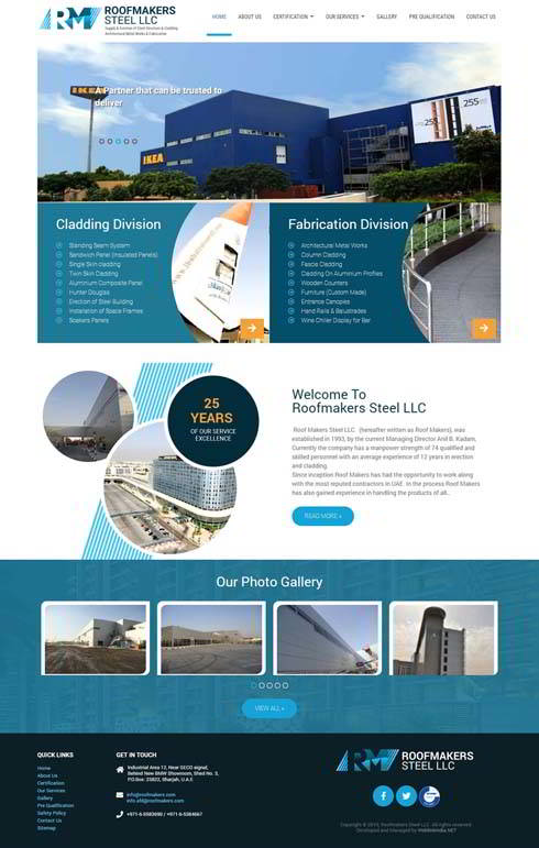 Roofmakers Steel LLC United Arab Emirates Web Design