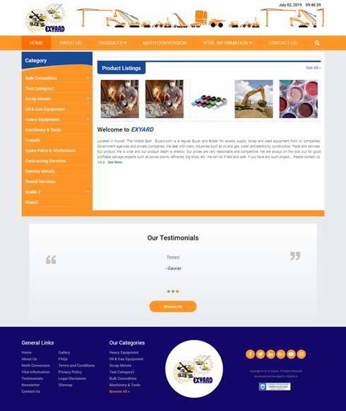 Exyard Kuwait Web Design