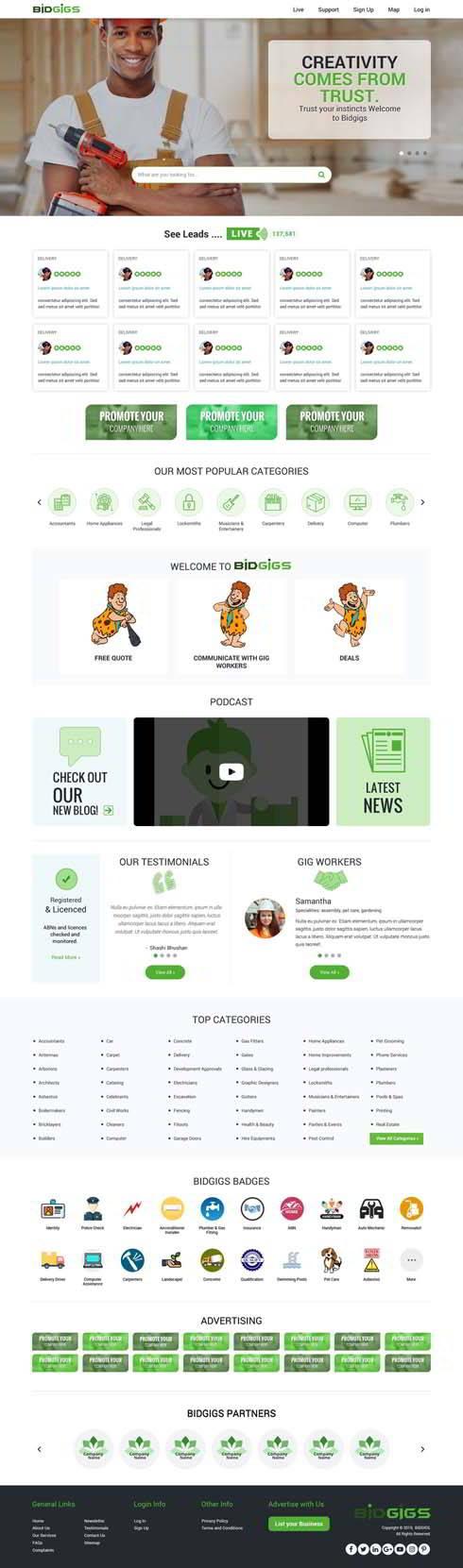 Bidgigs India Web Design