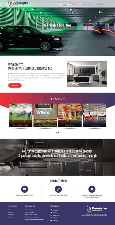 Protettivo Technical Services United Arab Emirates Web Design