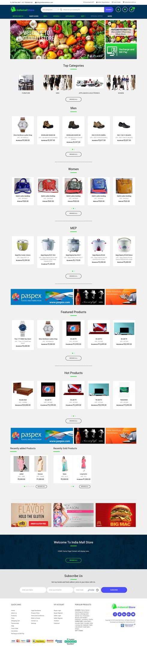 India Mall Store India Web Design