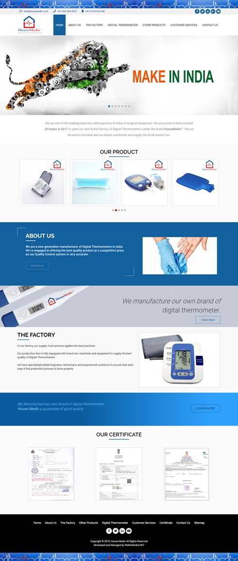 House Medic India Web Design