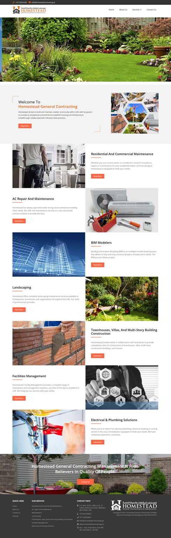 Homestead General Contracting United Arab Emirates Web Design