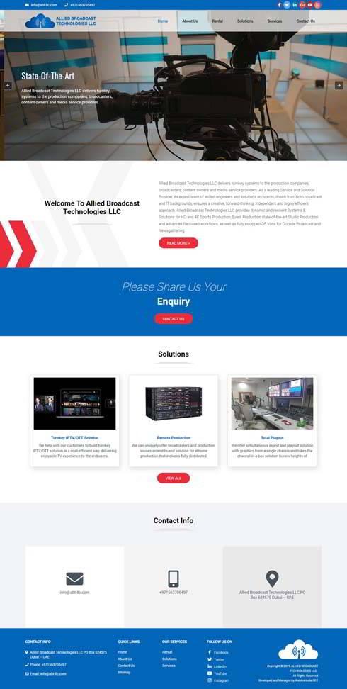 Allied Broadcast Technologies United Arab Emirates Web Design