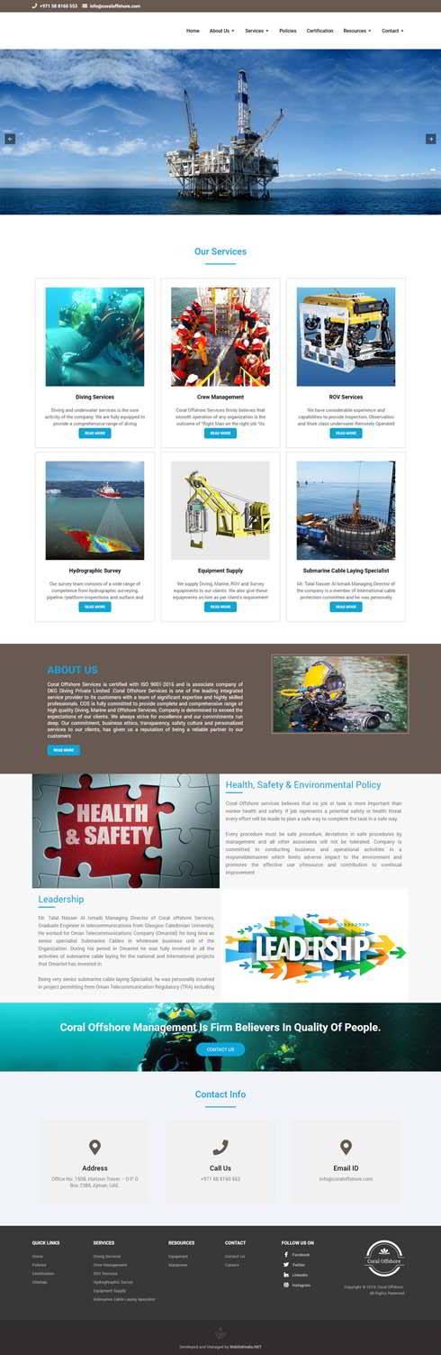 Coral Offshore United Arab Emirates Web Design