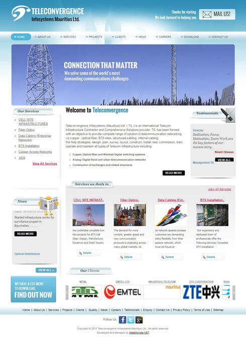 Teleconvergence Infosystems Mauritius Ltd Mauritius Web Design