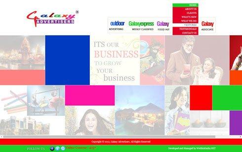 Galaxy Advertisers India Web Design