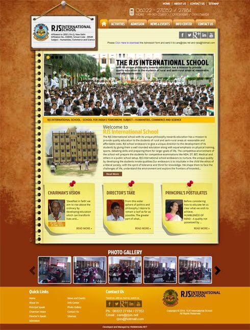 RJS International School India Web Design