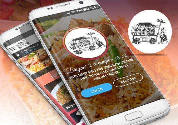 Sri Pinang Briyani - Mobile Apps Portfolio