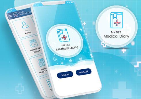 My Net Medical Diary India Web Design